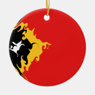 East Timor Gnarly Flag Christmas Ornament