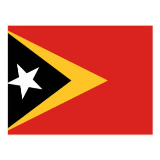East Timor National World Flag Postcard