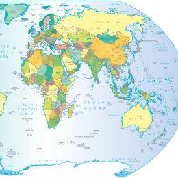 World map wall clocks zazzle east world map clock gumiabroncs Choice Image