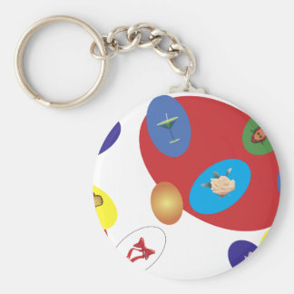 easter-2 basic round button key ring