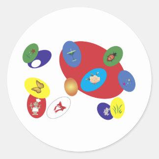 easter-2 round sticker