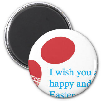 easter-4 6 cm round magnet
