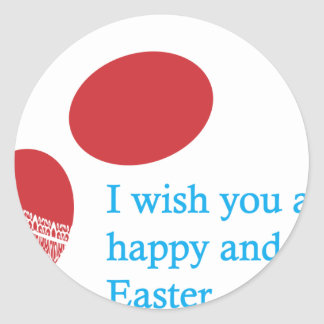 easter-4 round sticker