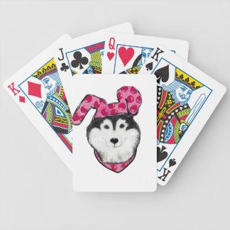Easter Alaskan Malamute Bicycle Playing Cards