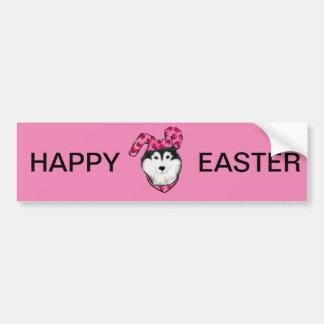 Easter Alaskan Malamute Bumper Sticker