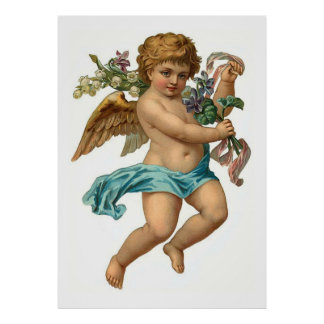 Easter Angel Vintage Easter Poster