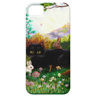 Easter Art Black Cat Bunny Christian Creationart Case For The iPhone 5