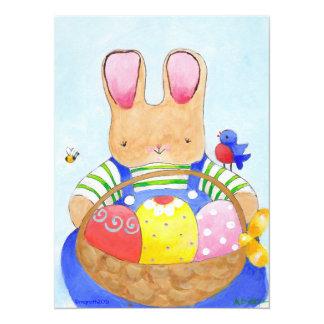 Easter basket boy bunny card