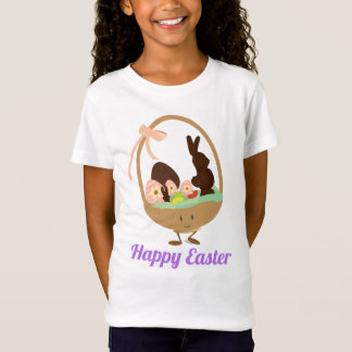 Easter Basket Cartoon with Words | T-Shirt