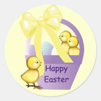 Easter Basket Chicks Small Sticker