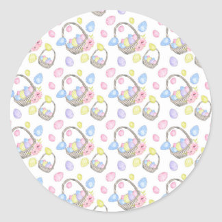 Easter Basket Classic Round Sticker