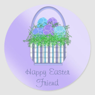 Easter Basket Collection Classic Round Sticker
