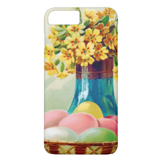 Easter Basket Colored Eggs Vase Daisies iPhone 7 Plus Case
