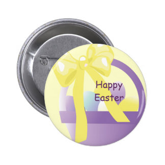 Easter Basket Happy Easter Button