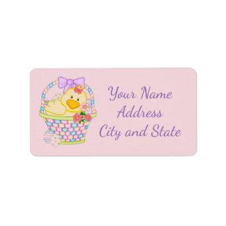 Easter Basket Label