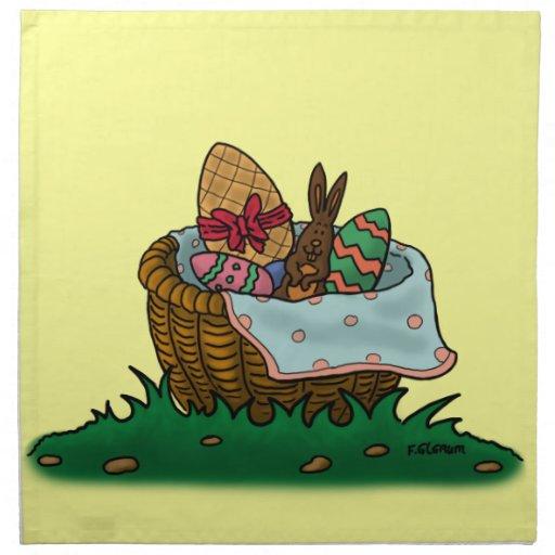 easter basket napkin
