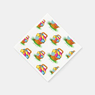 Easter basket pattern disposable serviette