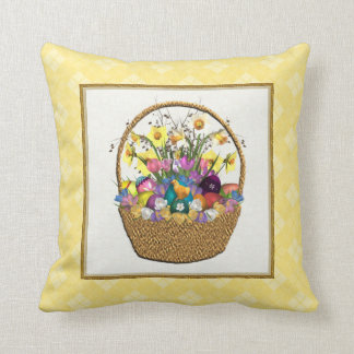 Easter Basket Pillow Throw Cushions