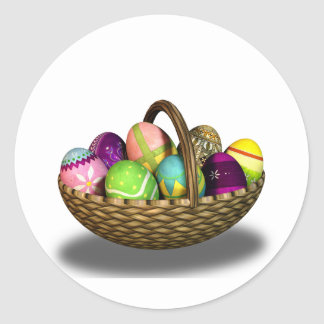 Easter Basket Round Sticker