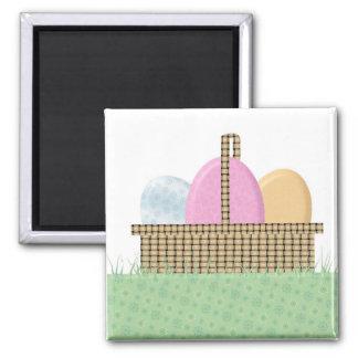 Easter Basket Square Magnet