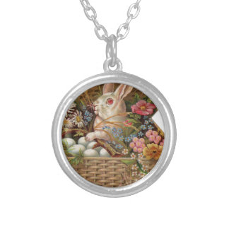Easter basket with bunny, flowers and eggs custom jewelry