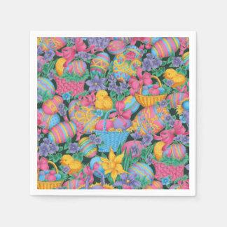 Easter Baskets and Eggs Disposable Napkins