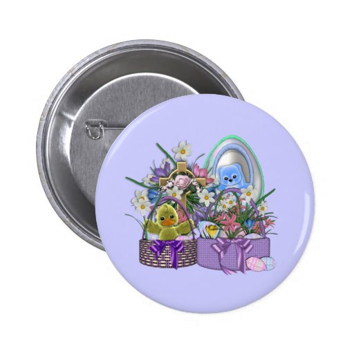 Easter Baskets Pinback Button