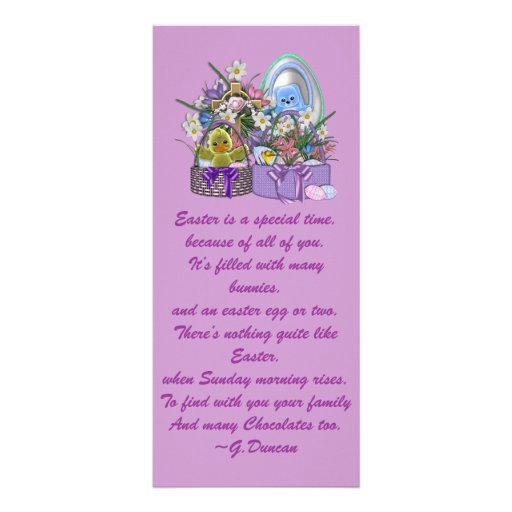 Easter Baskets Personalized Rack Card