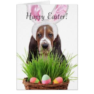 Easter Basset Hound Card
