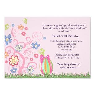 easter birthday invitations