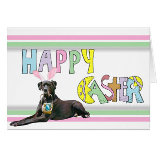 Easter Black Great Dane Card