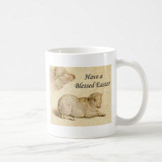 Easter Blessing Holbein Resting Lamb Art Coffee Mug