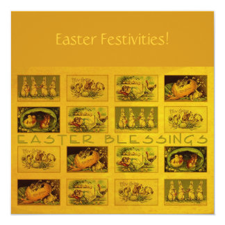 Easter Blessings 13 Cm X 13 Cm Square Invitation Card