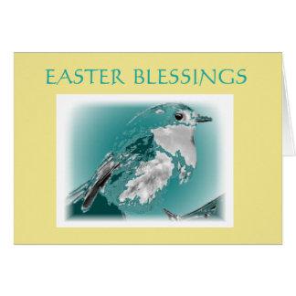 Easter Blessings Blue Bird Card