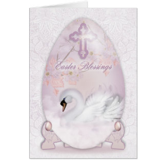 Easter Blessings Card With Decoration