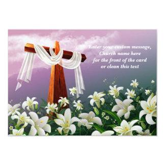 Easter Blessings. Christian Easter Cards 13 Cm X 18 Cm Invitation Card
