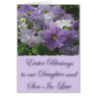 Easter Blessings Daughter & Son-In-Law Primrose Card