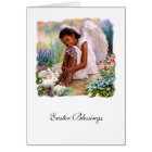 Easter Blessings. Little Afro Angel Greeting Cards
