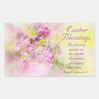 Easter Blessings Song of Solomon 2:12 Scripture Rectangular Sticker