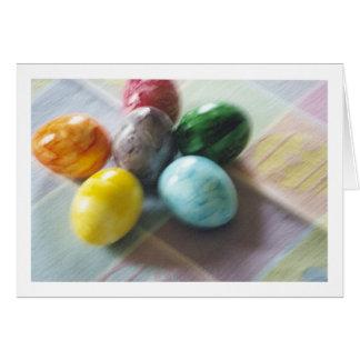 Easter blur greeting card