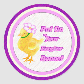 Easter Bonnet Sticker