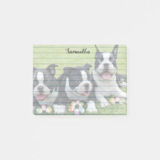 Easter Boston Terriers  Post it Notes