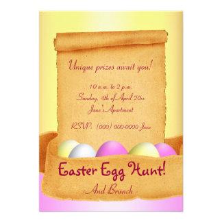 Easter Brunch Egg Hunt Invitations