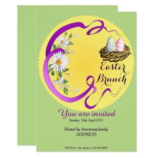 Easter Brunch Eggs in Nest Invitation