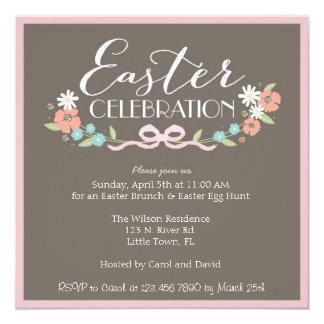 Easter Brunch 5.25x5.25 Square Paper Invitation Card