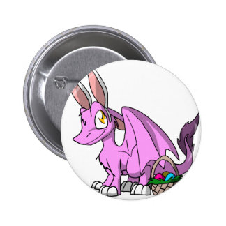 Easter Bubblegum/Pink SD Furry Dragon 6 Cm Round Badge