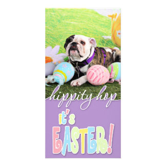 Easter - Bulldog - Delilah Picture Card
