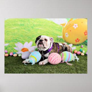 Easter - Bulldog - Delilah Poster