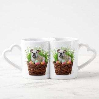 Easter Bulldog dog Lovers Mug Sets