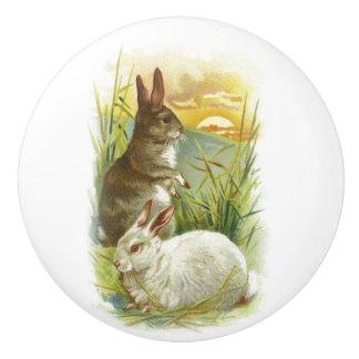 Easter Bunnies at Sunrise Ceramic Knob